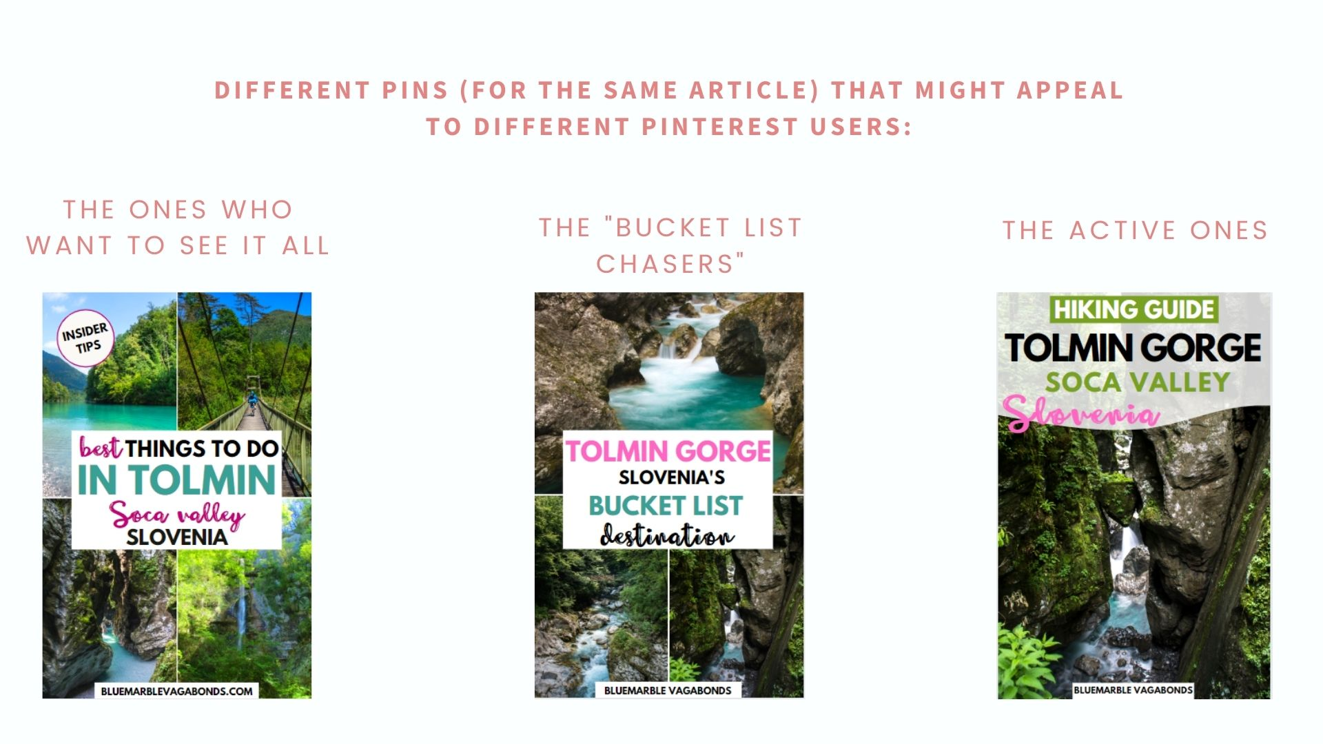 Different pin designs - Pinterest strategy in 2021