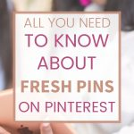 Fresh pins on Pinterest pin
