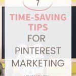 Time saving tips for Pinterest marketing pin