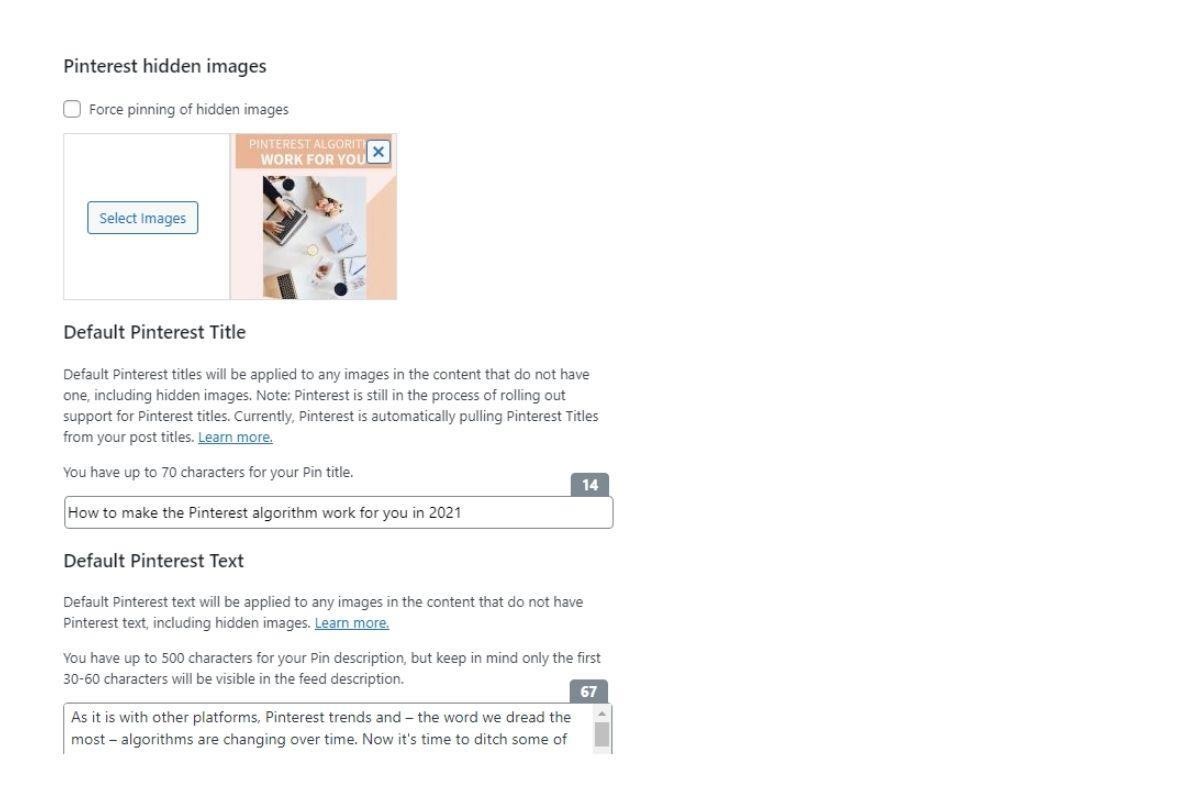 Optimize website for Pinterest - Tasty pins plugin wordpress